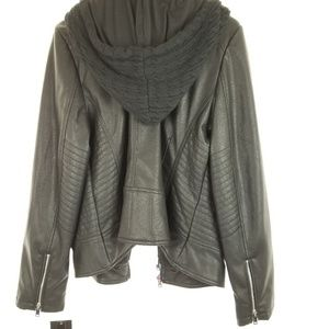 Faux leather women's XXL jacket